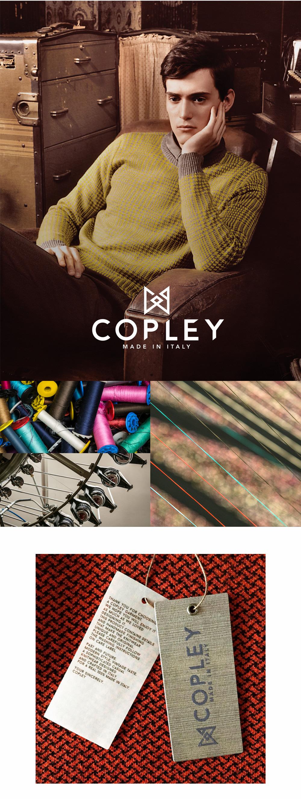Branding, LookBook, etichette, patches create per Copley