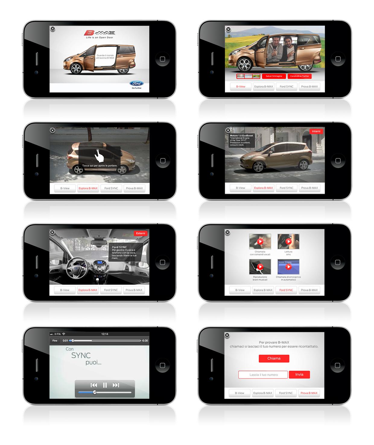 Ford B-Max iAd Screenshots